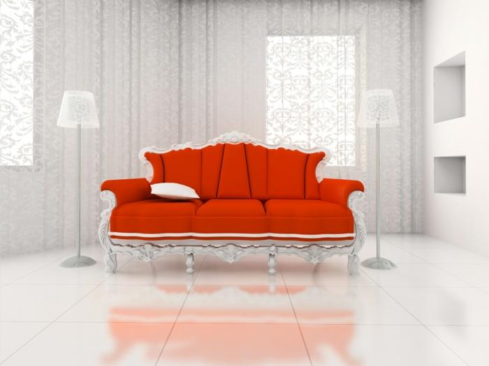 rote sofas luxuriöses design wohnzimmer einrichten