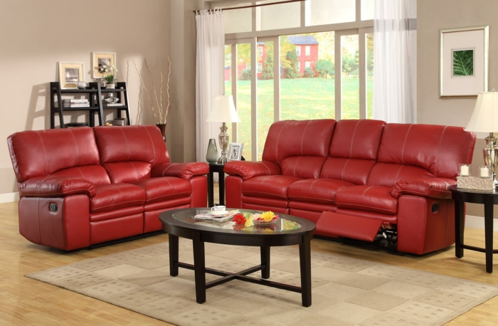 Rotes Sofa Ins Innendesign Einbeziehen Inspirierende Rote Sofas Wohnzimmer Farbe