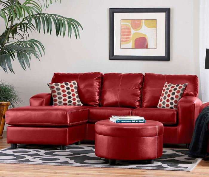rotes sofa ins innendesign einbeziehen - inspirierende rote sofas - Wohnzimmer Ideen Rote Couch