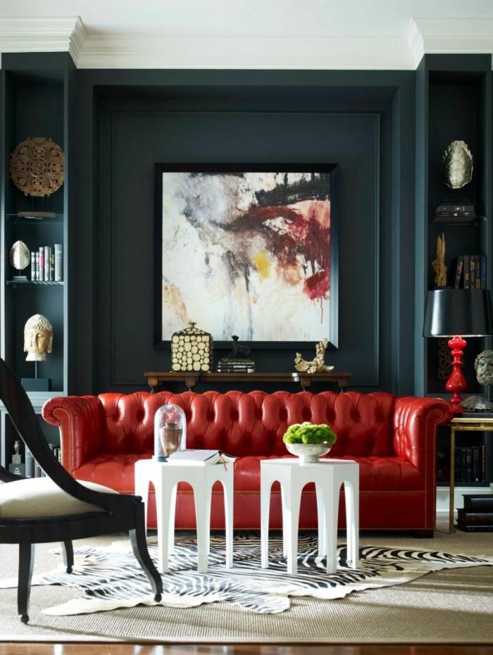 Rotes Sofa Ins Innendesign Einbeziehen - Inspirierende Rote Sofas Wohnzimmer Ideen Rote Couch
