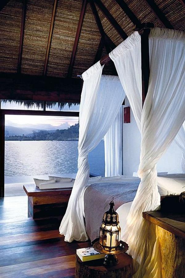 schlafzimmergestaltung ideen frisches interieur romantik