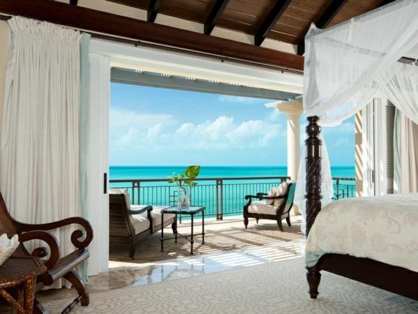 schlafzimmergestaltung ideen luxuriöses interieur tolle aussicht