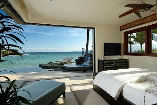 Traumhafte Schlafzimmergestaltung mit herrlicher Aussicht