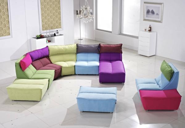 schöne sofas module couch bunt modern