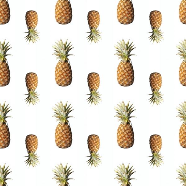 schöne tapetenmuster küche frische ananasse