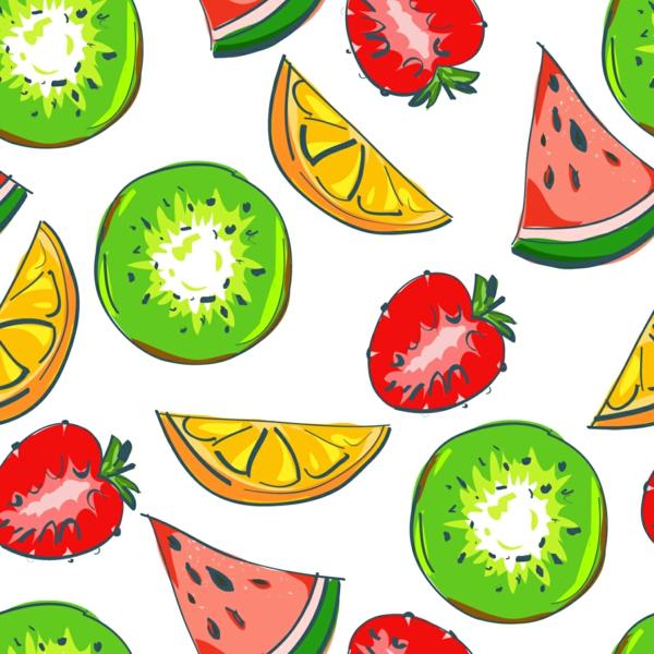 schöne tapetenmuster wassermelonen erdbeeren früchte