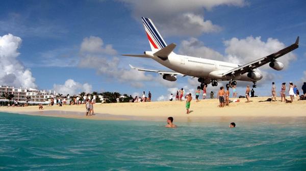 schönste strände Maho Beach Saint Martin