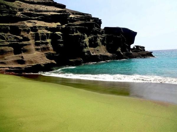 schönste strände Papakolea Green Sand Beach