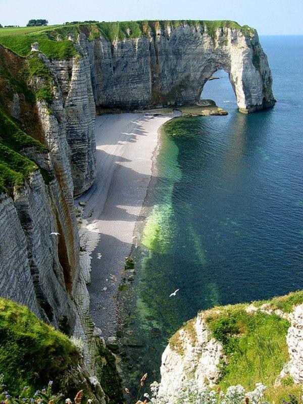 schönste strände europas Étretat Frankreich