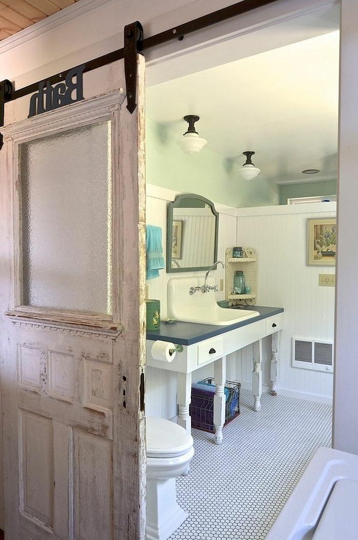 praktische schiebetüren für ein rustikales flair - Schiebetür Für Badezimmer
