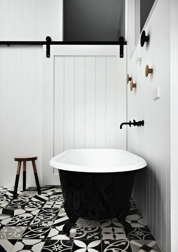 Schiebetüren Weiße Gleittür Badezimmer Freistehende Badewanne