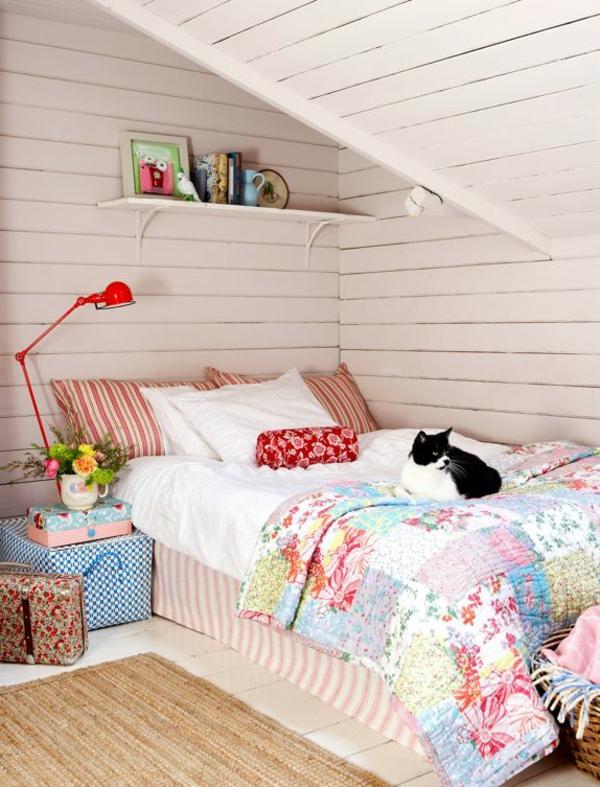 schlafzimmer design schöne wohnideen farbiges interieur
