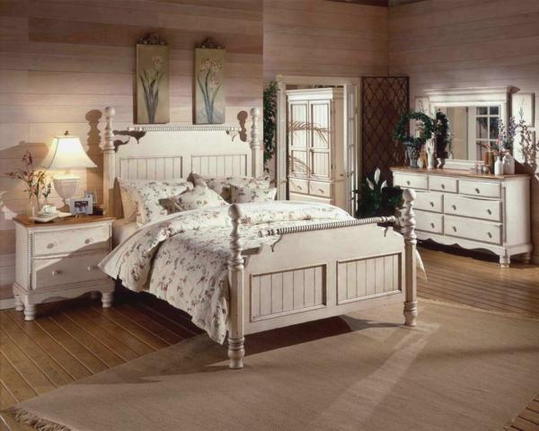 vintage schlafzimmer - ideen für die schlafzimmergestaltung, Schlafzimmer entwurf