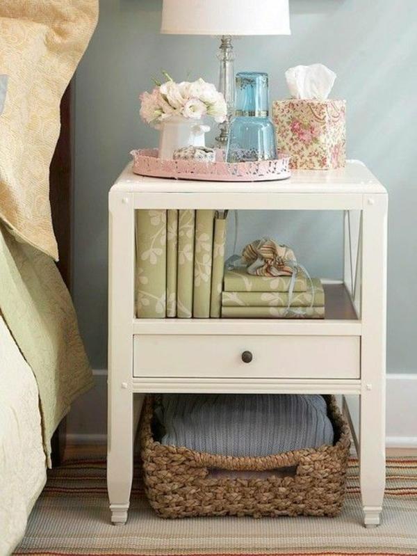 schlafzimmer möbel bett nachttisch schickes retro design