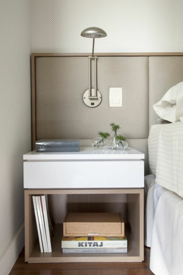 Schlafzimmer Möbel Bett Nachttisch Skandinavisches Design