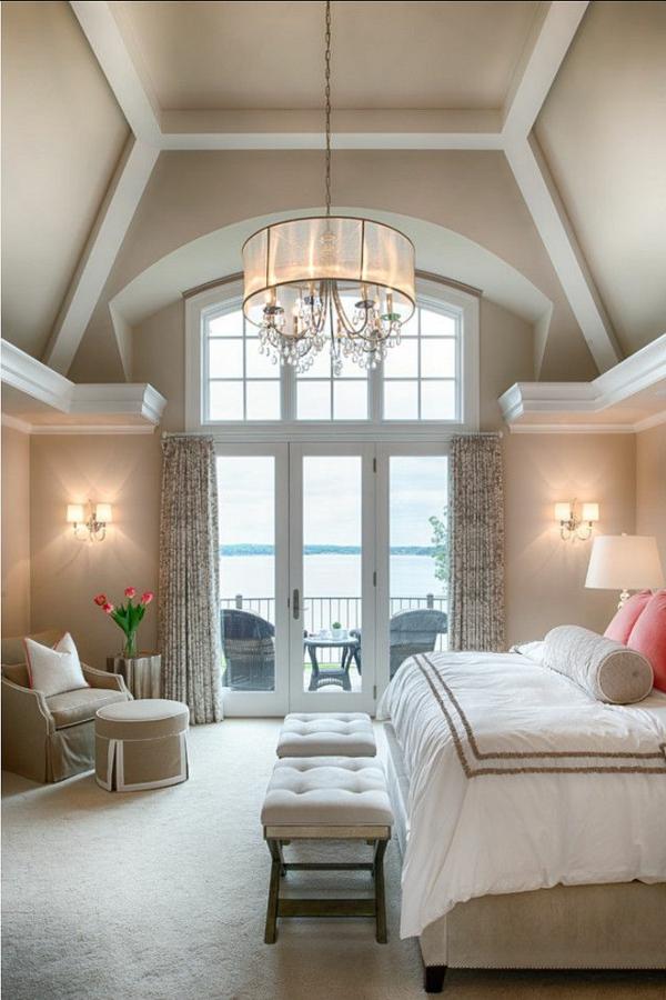 traumhafte schlafzimmergestaltung mit herrlicher aussicht, Schlafzimmer ideen