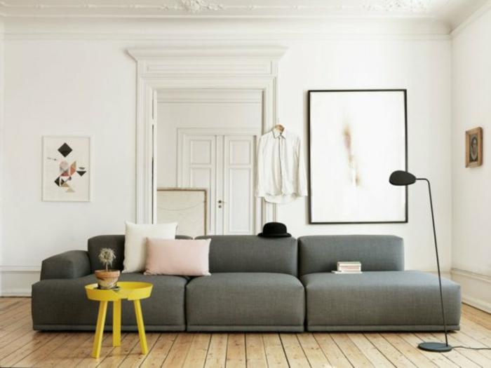 Skandinavisch Einrichten Wohnzimmer Sofa Skandinavisches Design Holzboden