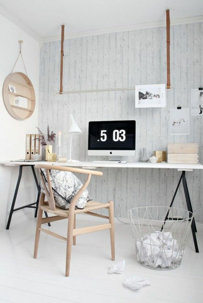 skandinavische möbel arbeitszimmer gestalten büromöbel