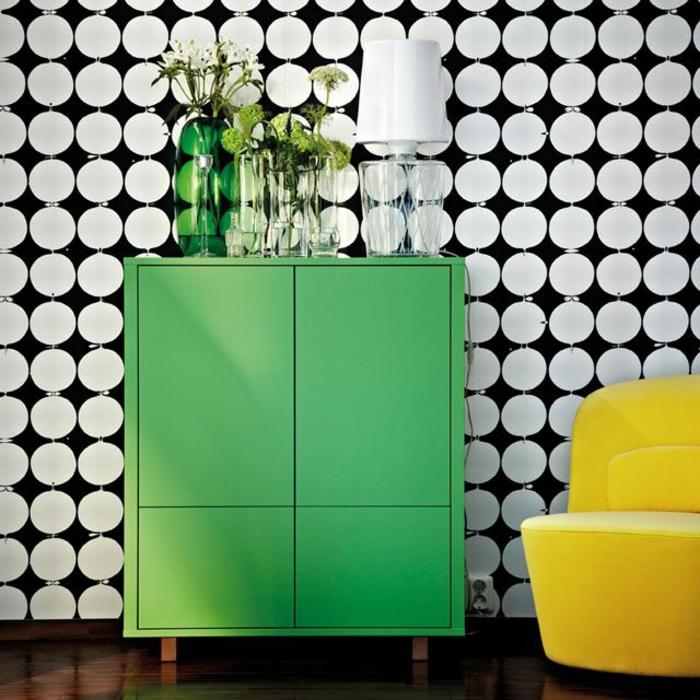skandinavische möbel schrank in grün