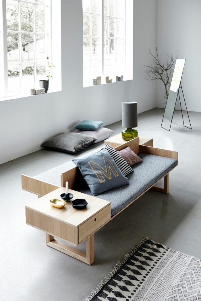 skandinavische möbel sofa mit couchtisch holz