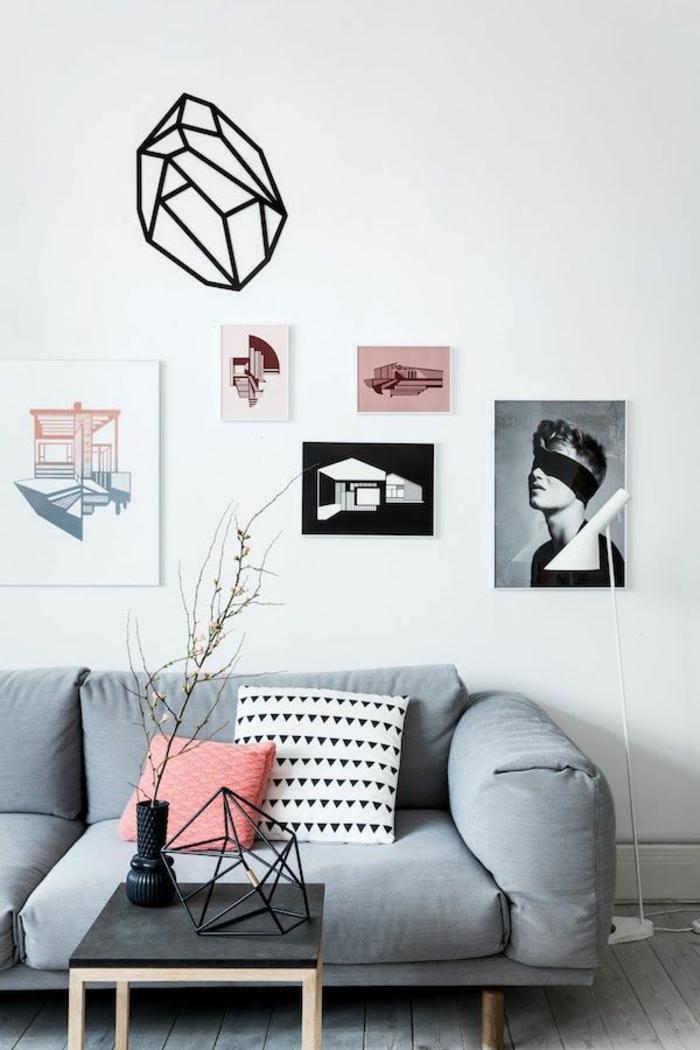 skandinavische möbel sofa wanddeko ideen