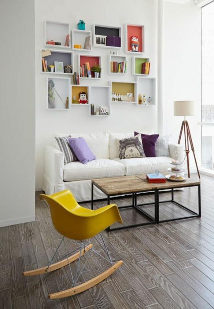 skandinavische möbel wohnzimmer möbel stuhl gelb retro