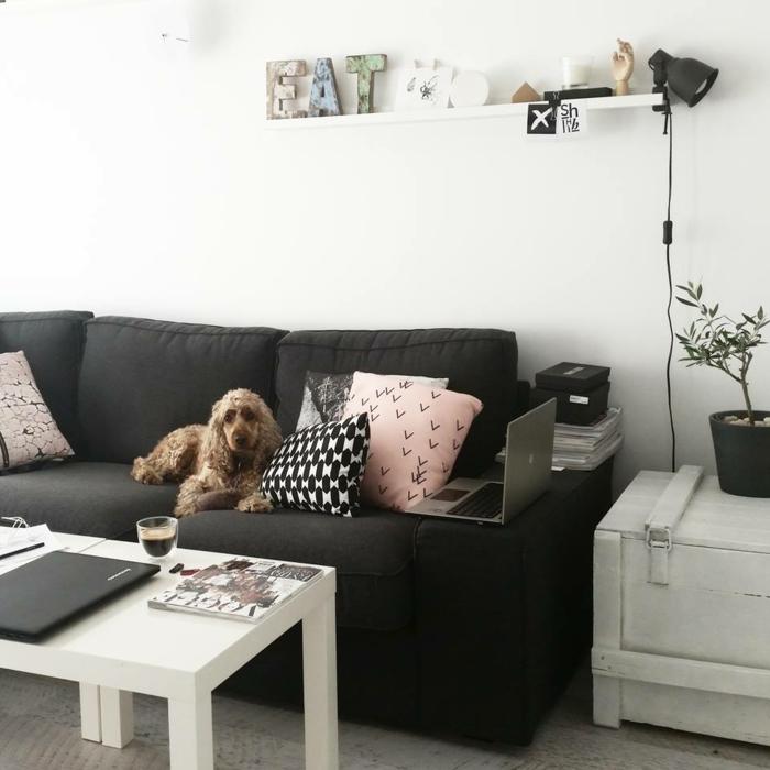 skandinavische möbel wohnzimmer sofa minimalistisch