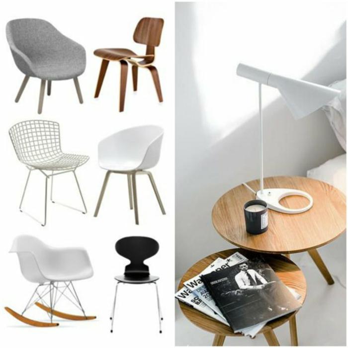 skandinavische möbel wohnzimmertische designer stühle tischlampe