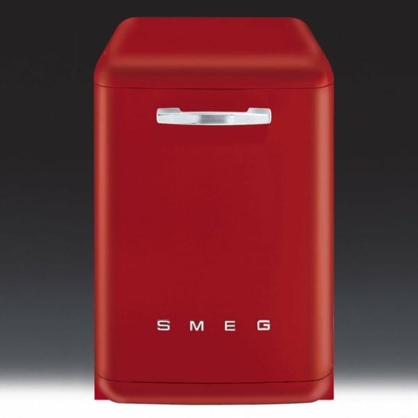 smeg kühlschrank elegant rot kleines model