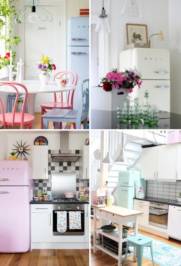 smeg kühlschrank farbig retro stil küche
