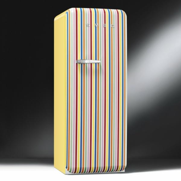 smeg kühlschrank retro gestreiftes model