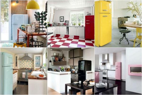 smeg kühlschrank retro kollektion farben runde formen