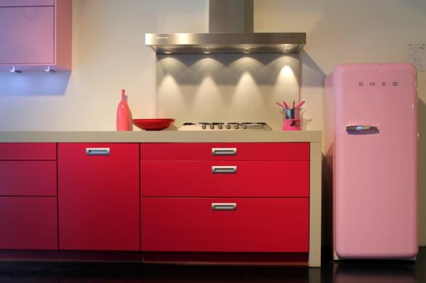 smeg kühlschrank retro stil rosa