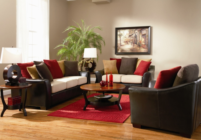 Bugendy Leather Sofa Living Room Ideas