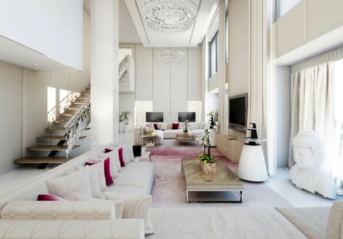 dekokissen wohnzimmer wohnzimmer streichen idee rot und wei kombinieren graues sofa dekokissen. Black Bedroom Furniture Sets. Home Design Ideas