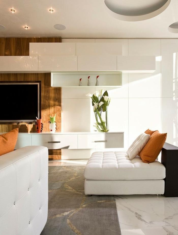 sofa kissen wohnzimmer dekoideen weißes sofa