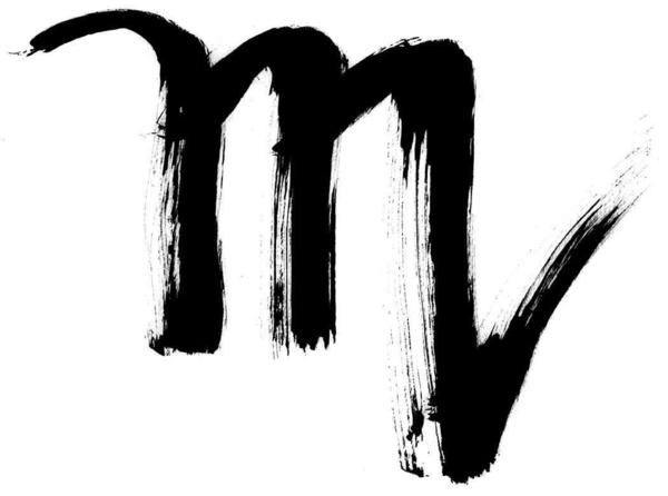 sternzeichen skorpion kaligrafie zeichen