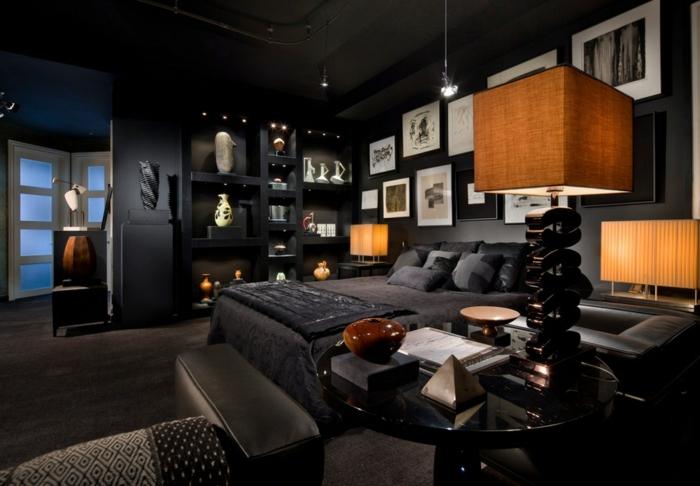 design : wohnzimmer schwarz streichen ~ inspirierende bilder von ... - Wohnzimmer Schwarz Streichen