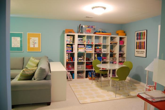 streichen ideen wohnzimmer spielraum kombinieren