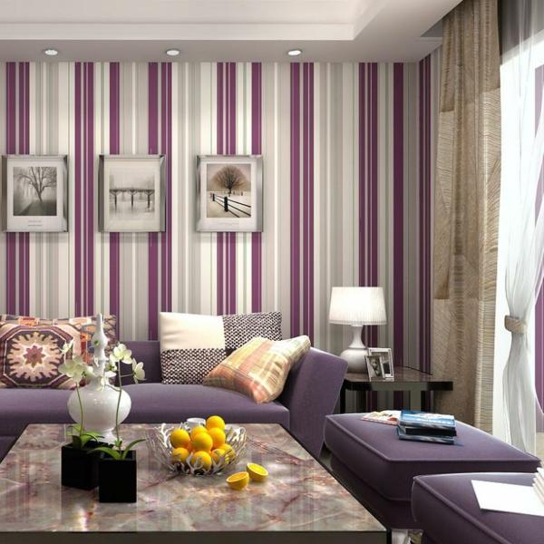 wohnzimmer und kamin : wohnzimmer lila grün ~ inspirierende bilder