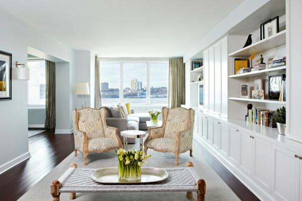 symmetrie wohnzimmer retro sessel