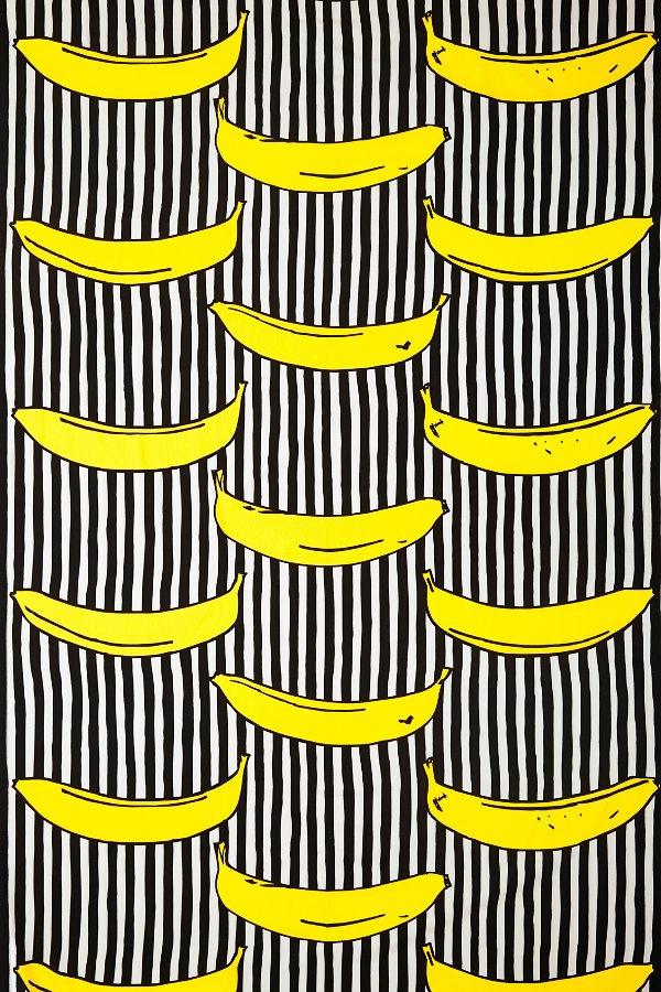 tapetenmuster bananen grelle akzente wandgestaltung