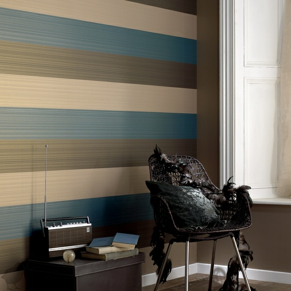 schicke streifentapete für eine geschmackvolle innenausstattung - Tapete Modern Elegant Wohnzimmer