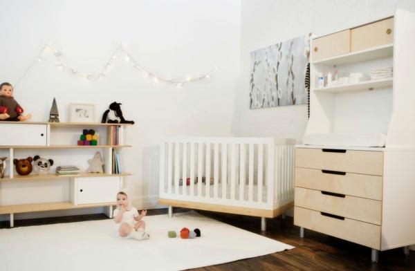teppich babyzimmer weiß schlicht design
