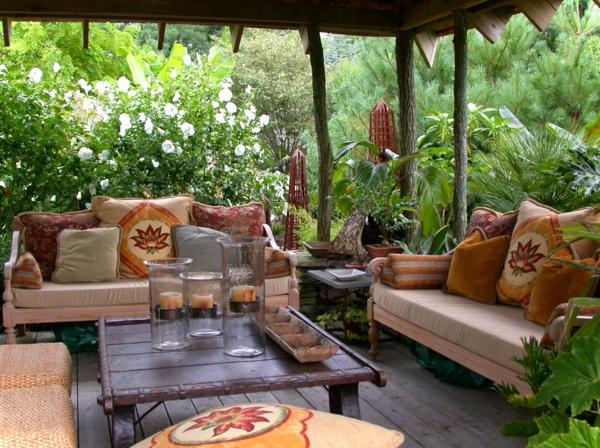 terrassenüberdachung polstermöbel sitzecke tisch