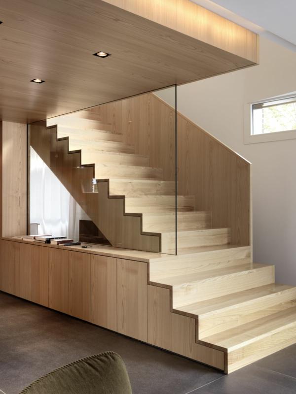 Treppenhaus Design Holz Modern Attraktiv Treppenhaus Gestalten ...