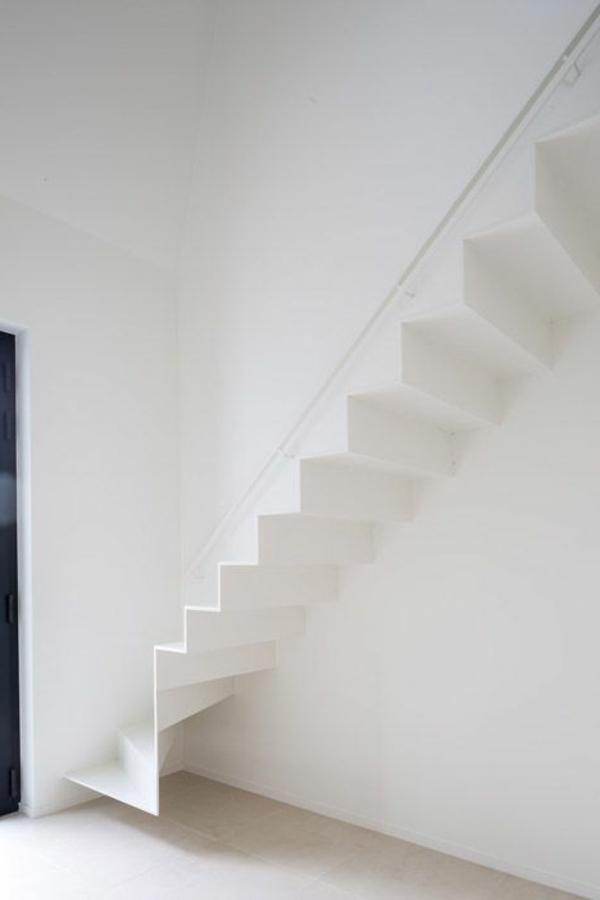treppenhaus design metall weiß modern
