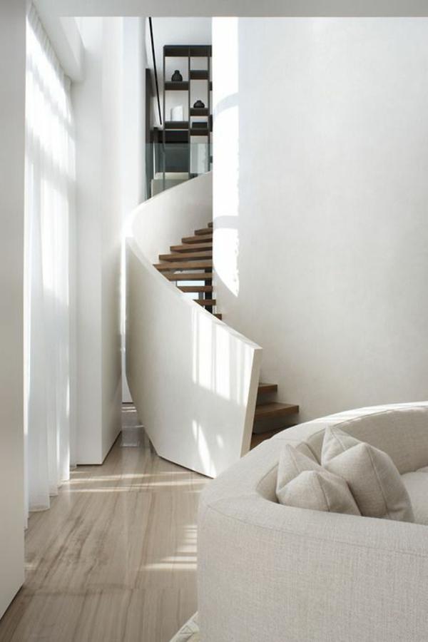 Treppenhaus Design Modern Elegant Wohnzimmer Treppenhaus Gestalten ...