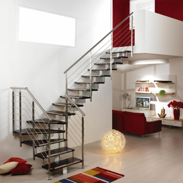GroBartig Treppenhaus Gestalten Metall Modern Offener Wohnplan