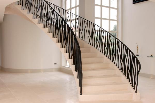 Treppenhaus Gestalten Steintreppen Elegant Modern